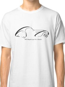 Bugatti Type 57SC Atlantique black ink line drawing Classic T-Shirt