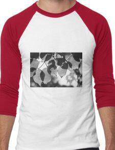 Backlit Leaves Black & White Graphic Men's Baseball ¾ T-Shirt