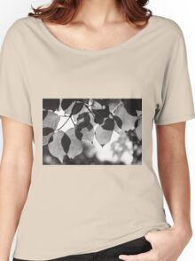 Backlit Leaves Black & White Graphic Women's Relaxed Fit T-Shirt