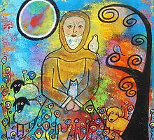 St. Francis and Animals by Juli Cady Ryan