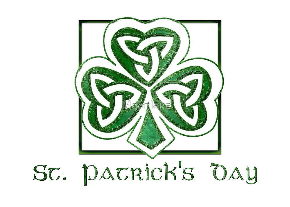 St. Patrick's Day Card Elegant Simple  by Moonlake
