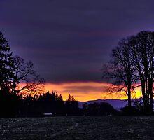 Sunrise in Dallas Oregon by pdsfotoart