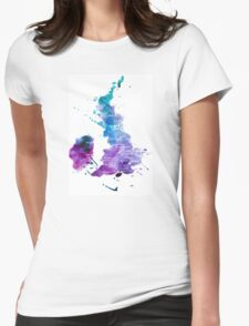 UK map in Watercolours Womens Fitted T-Shirt