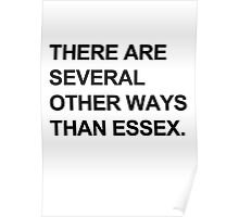"""Other Ways Than Essex"" - TOWIE / The Only Way Is Essex Design [BLACK TEXT] Poster"