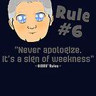 GIBBS' Rule #6 - Mange Style by CJSDesign