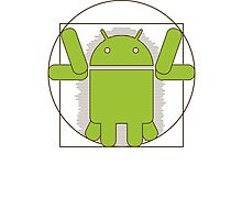 Vitruvian Android Photographic Print