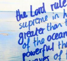 Psalm 93: The Lord is powerful Sticker