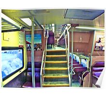 Colorful Gray Day On The MBTA - Plymouth to Boston © 2010 - featured Poster