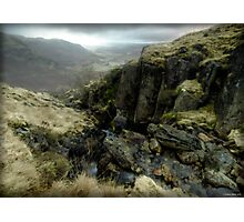 Little Langdale from Honister Pass, December 2009 Photographic Print
