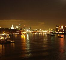 London city at night  by scorpion-man