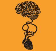 Heart and Brain Connected by Anastasiia Kucherenko