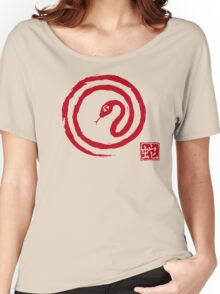 Chinese Galligraphic Snake as Symbol of Year 2013 Women's Relaxed Fit T-Shirt
