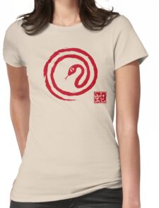 Chinese Galligraphic Snake as Symbol of Year 2013 Womens Fitted T-Shirt