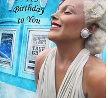 "Fantasy in White ""Happy Birthday"" ~ Greeting Cards and More by Susan Werby"