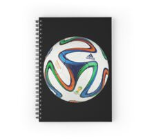 2014 FIFA World Cup Brazil match ball big enough for duvet Spiral Notebook