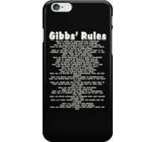 Gibbs' Rules - White Version iPhone Case/Skin