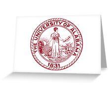 The University of Alabama seal Greeting Card
