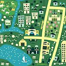 Cartoon Map of Melbourne by Anastasiia Kucherenko