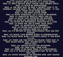 Gibbs' Rules - Grey Version by CJSDesign