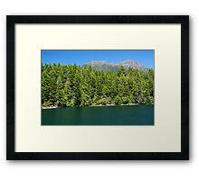 Lake Cushman and Mount Elinor in Summer Framed Print