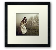 You left me with a frozen heart Framed Print