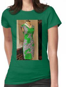 Green dress Womens Fitted T-Shirt
