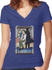 The one who counted Women's Fitted V-Neck T-Shirt