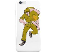 World War Two American Soldier Carry Wounded Comrade iPhone Case/Skin