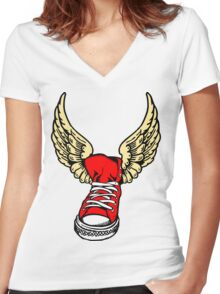 Winged Victory Women's Fitted V-Neck T-Shirt