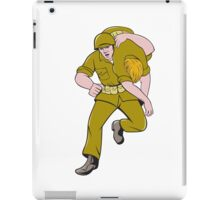 World War Two American Soldier Carry Wounded Comrade iPad Case/Skin