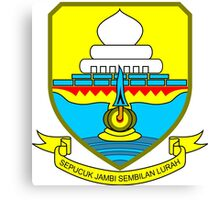 Coat of Arms of Jambi Canvas Print