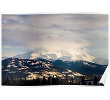 Winter mountain range landscape of Yukon Territory, Canada Poster
