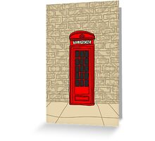 telephone booth iphone case Greeting Card