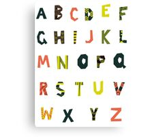 english alphabet Canvas Print