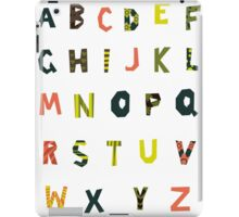 english alphabet iPad Case/Skin