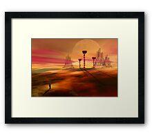Stranger in an alien landscape Framed Print