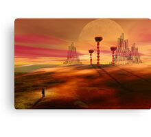 Stranger in an alien landscape Canvas Print