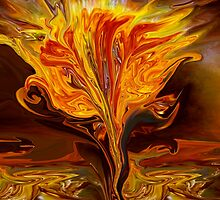Flame of Love- Abstract 114-   Art + Products Design  by haya1812