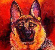 German Shepherd by sesillie