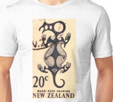Maori Rock Drawing Print Unisex T-Shirt