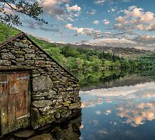 Gwynant Lake Sunset by Adrian Evans