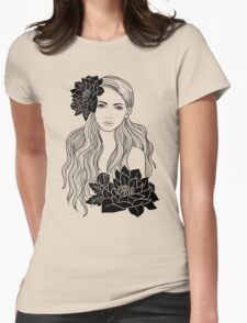 Tropical Girl Womens Fitted T-Shirt
