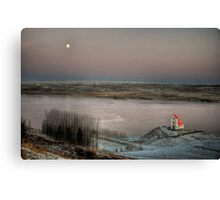 Moon and Chapel Canvas Print