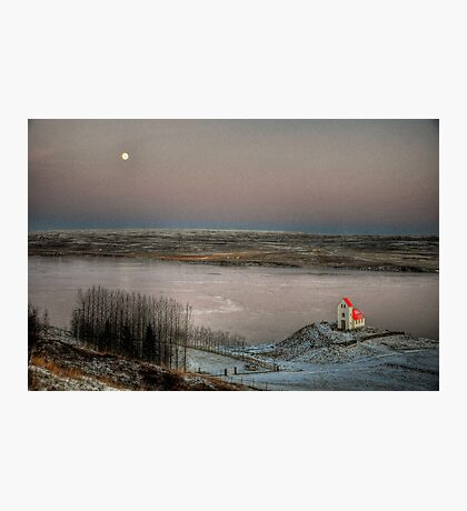 Moon and Chapel Photographic Print