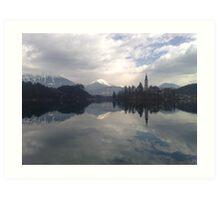 crystal clear - Lake Bled Slovenia Art Print