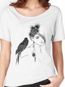 Parrot Girl 2 Women's Relaxed Fit T-Shirt