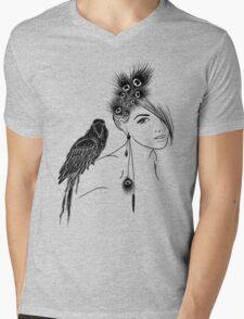 Parrot Girl 2 Mens V-Neck T-Shirt