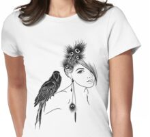 Parrot Girl 2 Womens Fitted T-Shirt