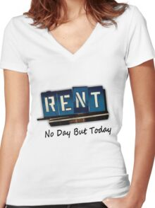 Rent The Musical Women's Fitted V-Neck T-Shirt