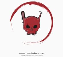 Red Skull White T-shirt by creativeborn
